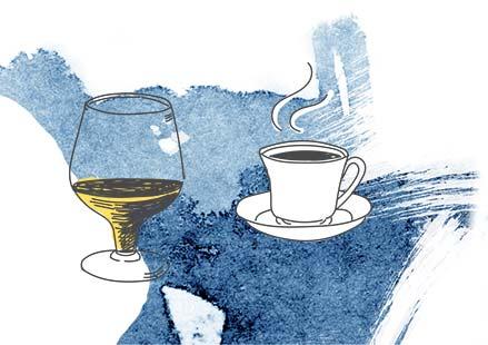 Кофе перед застольем улучшает переработку алкоголя