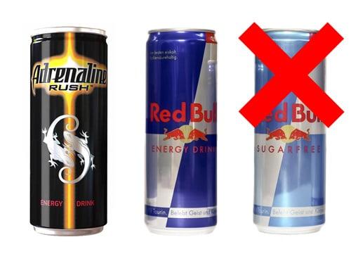 Энергетические напитки при похмелье