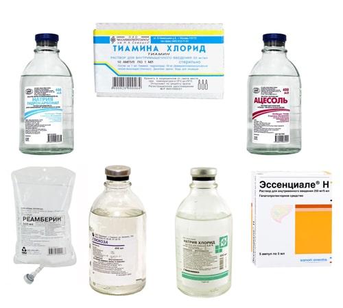 Состав препаратов в капельнице от алкоголизма